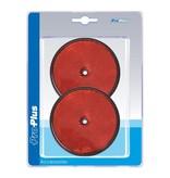 ProPlus Reflector rood 80mm schroefbevestiging 2 stuks