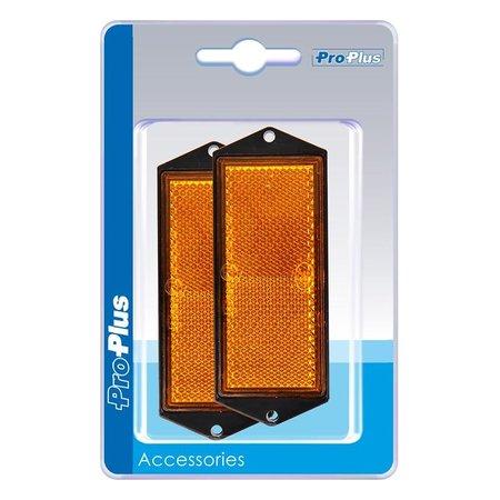 ProPlus Reflector oranje 104x40mm schroefbevestiging 2 stuks