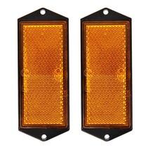Reflector oranje 104x40mm schroefbevestiging 2 stuks