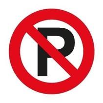 Sticker: Parkeren verboden