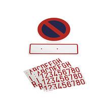 Sticker: Verboden parkeren met nummerplaat