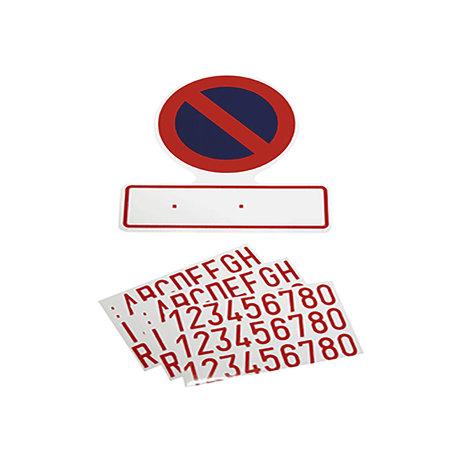 Carpoint Sticker: Verboden parkeren met nummerplaat
