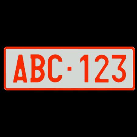 Nummerplaat oud formaat (340 x 110mm)