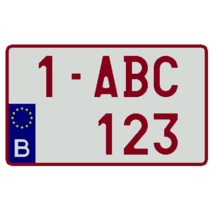 Europese Nummerplaat (Vierkant België)