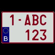 Europese Nummerplaat (Vierkant)