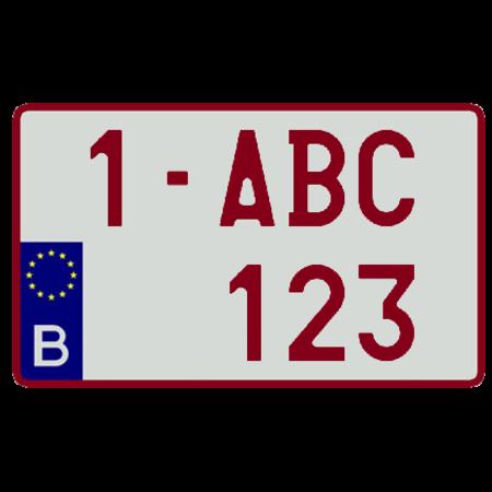 Europese Nummerplaat (Vierkant) 340 x 210mm WIT