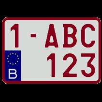 Europese Nummerplaat (Moto)
