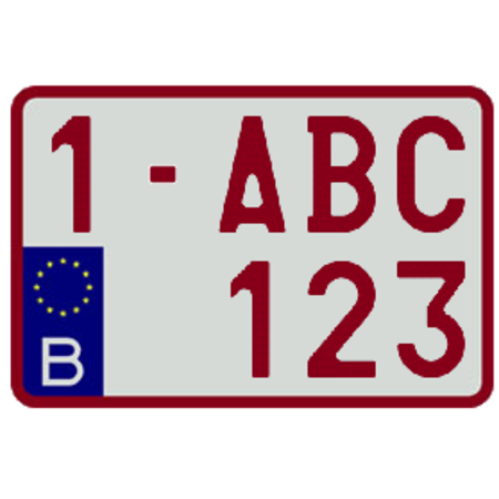 Europese Nummerplaat (Moto België) 210 x 140mm WIT