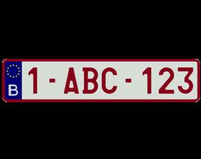 Standaard Nummerplaten