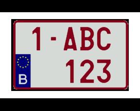 Vierkante Nummerplaten (4x4)