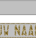 Funplaat Funplaat Zilver- Op Naam 520 x 112