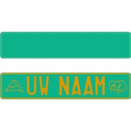 Funplaat Funplaat Groen Reflex - Op Naam 520 x 112