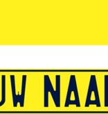 Funplaat Funplaat Geel-niet reflecterend- Op Naam 520 x 112