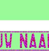 Funplaat Funplaat Mint Groen- Op Naam 520 x 112