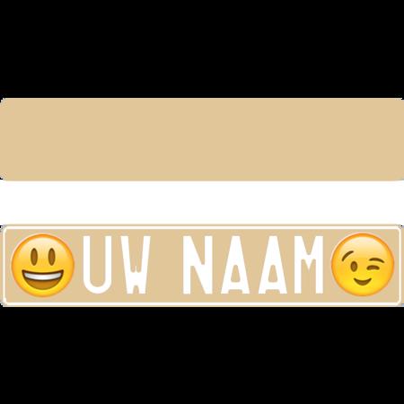 Funplaat Funplaat Ecru- Op Naam 520 x 112
