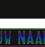Funplaat Funplaat  Glossy zwart- Op Naam 520 x 112
