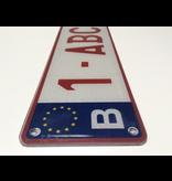 Europese Nummerplaat PLEXI  520x 110mm WIT