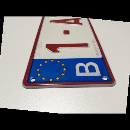 Europese Nummerplaat BELGIË 520 x 110mm WIT