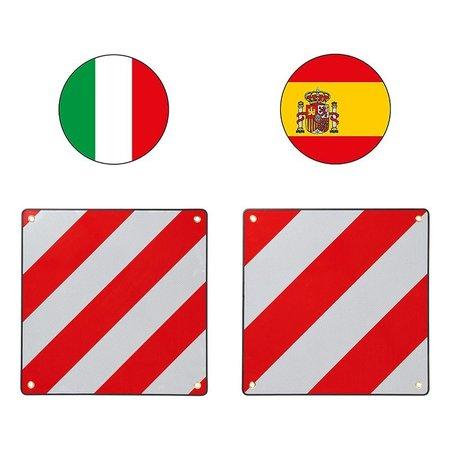 ProPlus Markeringsbord aluminium 50x50cm voor Italië/Spanje 2 in 1
