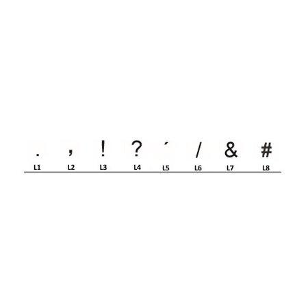 Funplaat Funplaat Wit Reflex- Op Naam 520 x 112