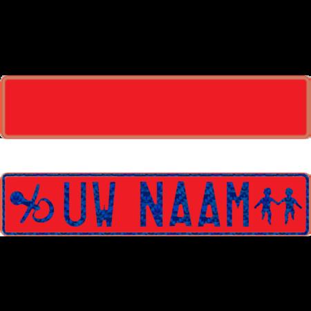 Funplaat Funplaat Rood-niet reflecterend- Op Naam 520 x 112