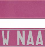 Funplaat Funplaat  Glitter roze- Op Naam 520 x 112