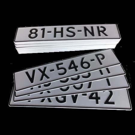 Witte Kentekenplaat Reflecterend 520x110 mm