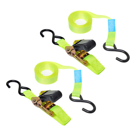 ProPlus Spanband met ratel + 2 haken 5 meter (set van 2 stuks)