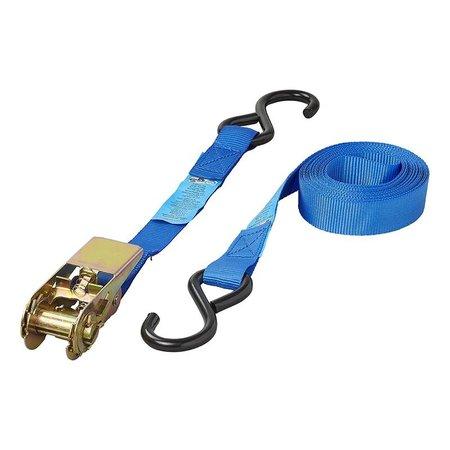 ProPlus Spanband blauw met ratel + 2 haken 5 meter