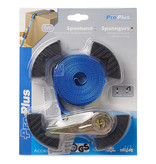 ProPlus Spanband blauw met ratel en randbeschermers 5 meter