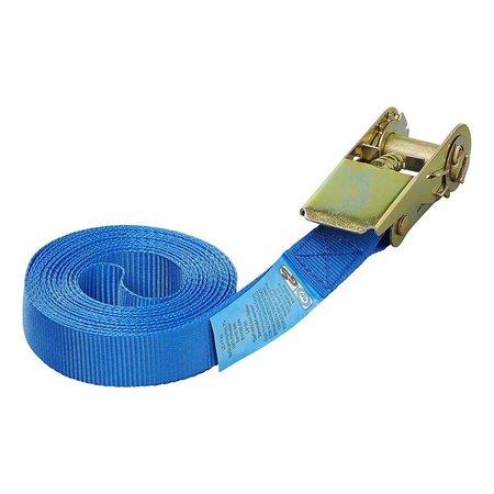 ProPlus Spanband blauw met ratel 5 meter