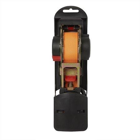 ProPlus Spanband met ratel + 2 haken 350cm 320kg automatisch oprollend