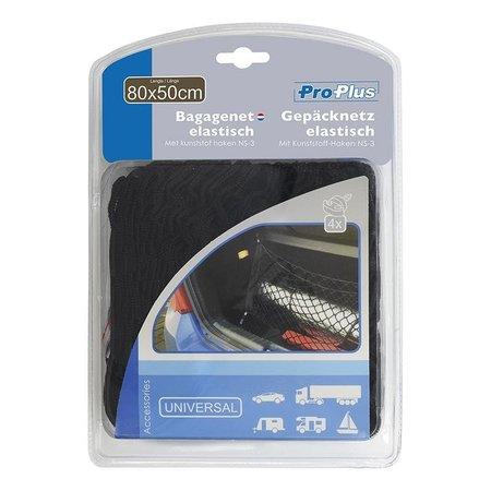 ProPlus Proplus Bagagenet elastisch 80x50cm met kunststof haken