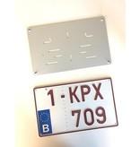 Vierkante Plaathouder ZILVER (ALU) voor nummerplaat 340 x 210mm
