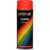 Motip Fluorescerende Lak Rood / Oranje 400ml