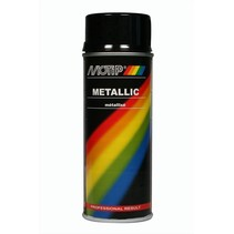 Motip Metallic Lak zwart 400ml