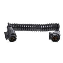 Proplus Spiraalkabel 3,5m 8 aderig met 2x stekker 13-polig PVC