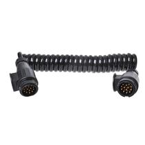 Proplus Spiraalkabel 3,5m 13 aderig met 2x stekker 13-polig PVC