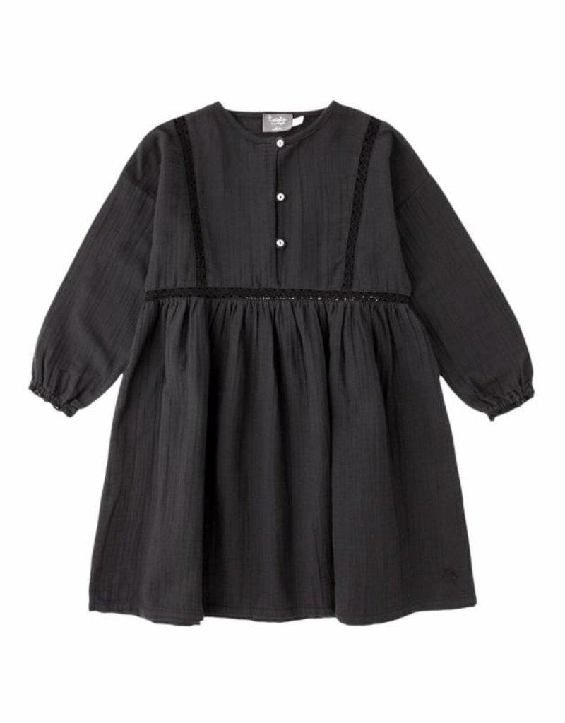 2795435ba0 Tocoto Vintage Tocoto Vintage Lace Dress Grey - So Lovable