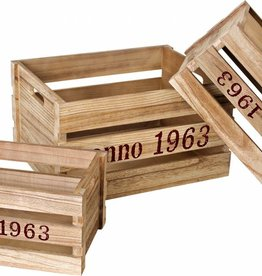 "1498 - Wooden Box ""Nature"" (3pieces)"