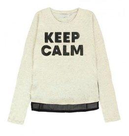 Lemon Beret 135680 Teen girls shirt  cream melange