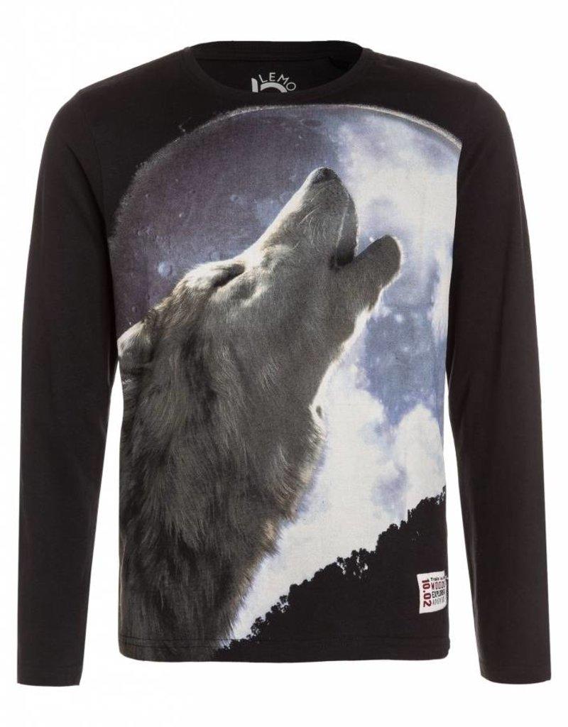 Lemon Beret Nocturne teen boys shirt howling wolf