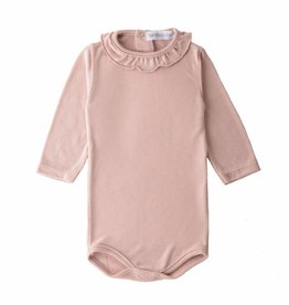 Bamboo & Love  AW17-TP27 BODYSUIT NECK C02 - DUSTY ROSE