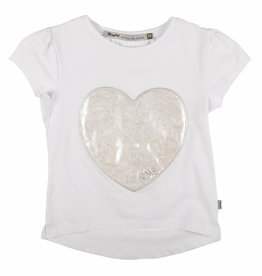 Rumbl! Royal T-shirt wit met hart