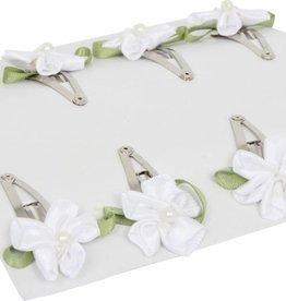 Hairslides white flower