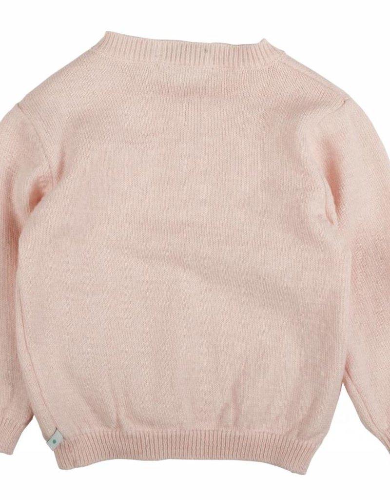 Bla bla bla Cardigan pink / white