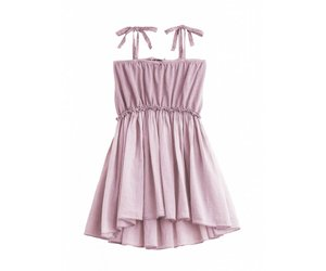 27354dc70ae Knitted cotton linen dress + voile pink - So Lovable