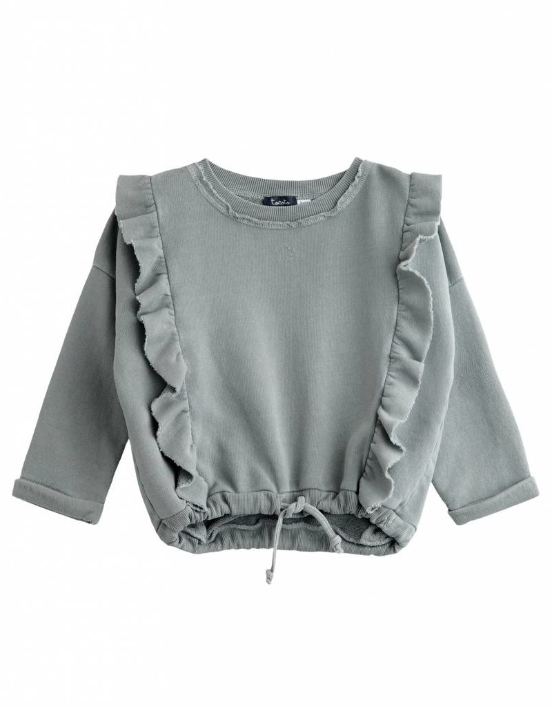 Tocoto Vintage Girls sweater Green