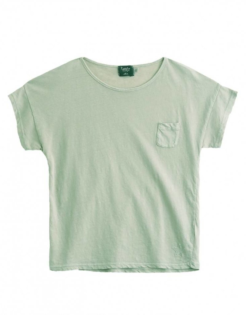 Tocoto Vintage T-Shirt with pocket Green