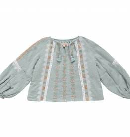 Louise Misha Blouse Sokiov Silver Cloud